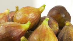 Figs on white background 4K 3840X2160 UHD footage - Figs fruit background 4K Stock Footage