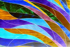 abstract art of glass shape in colorful - stock photo