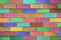 Stock Photo of Background of colorfull brick wall texture