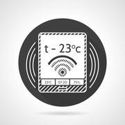 Thermostat black round vector icon Piirros