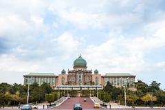 Islamic Palace in Putrajaya of Malaysia - stock photo