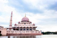 Putra Mosque located in Putrajaya city the new Federal Territory of Malaysia - stock photo