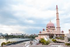 Putra Mosque located in Putrajaya city the new Federal Territory of Malaysia Stock Photos