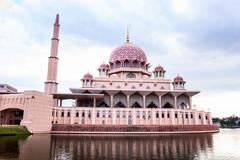 Stock Photo of Putra Mosque located in Putrajaya city the new Federal Territory of Malaysia