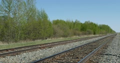Stock Video Footage of Railroad tracks in a rural area