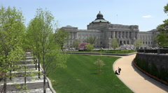 Washington DC US Library Of Congress from Capitol 4K Stock Footage