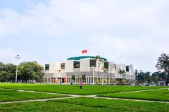 HANOI, VIETNAM- FEB26, 2015: Vietnam's parliament headquarters are building i - stock photo