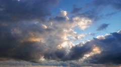 Cumulus Clouds Timelapse 21 (After Sunrise) - stock footage