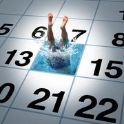 Swimming Time - stock illustration