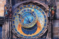 Famous astronomical clock Orloj in Prague - stock photo