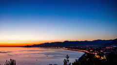 Alanya Turkey sunset landscape Stock Footage