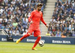 Gerard Pique of FC Barcelona Stock Photos