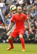 Andres Iniesta of FC Barcelona Stock Photos