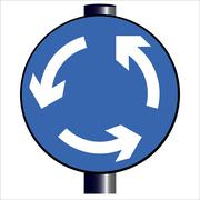 Roundabout Traffic Sign - stock illustration