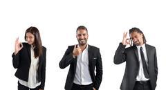Businessperson agree Stock Photos