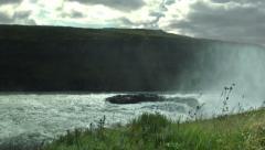 GULFOSS WATERFALL, ICELAND  Stock Footage