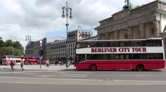 Red Tourist Double Decker Bus In Berlin Stock Footage