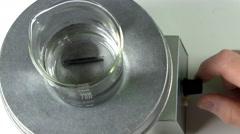 Magnetic stirrer Stock Footage