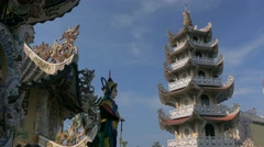 Pagoda in Vietnam Stock Footage