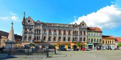 traian square panorama - stock photo
