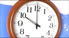 Wall Clock Time-Lapse - stock footage
