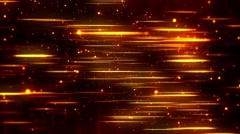 Epic Golden Abstract Fire Flames Particle Rain - Falling Soft Glow Bokeh - stock footage