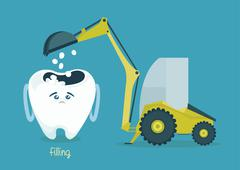 Filling tooth Stock Illustration