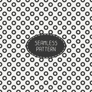 Geometric seamless polka dot pattern with circles. Wrapping paper. Paper for - stock illustration