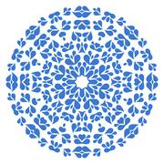 Stock Illustration of Round blue pattern on white background