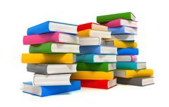 Books stack over white Stock Illustration