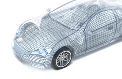 Car design, wire model. My own design. Stock Illustration