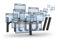 http abstract 3D concept - stock illustration