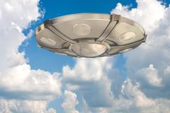 Ufo in the sky Stock Illustration