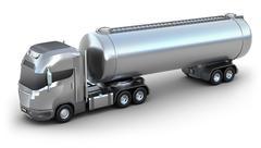 Oil Tanker truck. Isolated 3D image . - stock illustration