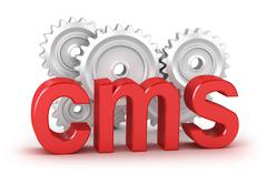 CMS : content management system concept - stock illustration