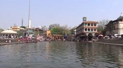Ram Ghat, Godwari River, Nasik, Maharashtra 2 Stock Footage