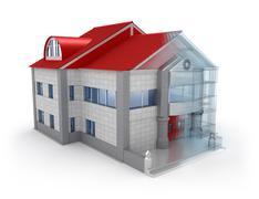 Exterior house design. Over white background Stock Illustration