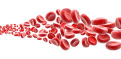 Blood cells on white background Stock Illustration