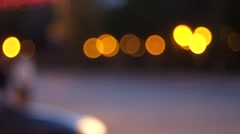 Blurred street view of asian town in night fhd Stock Footage