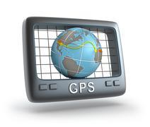 GPS world tracker 3D concept Piirros