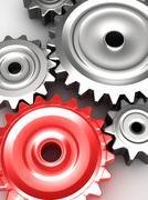 Steel gear wheels concept Stock Illustration