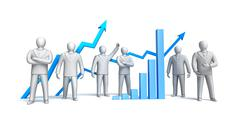 Stock market concept, isolated - stock illustration