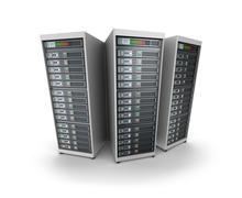 Stock Illustration of Set of data servers