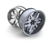 Car rims concept. Isolated on white - stock illustration
