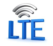 Stock Illustration of LTE Network Connection