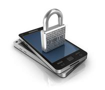 Smartphone with lock. Security concept Piirros