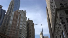 Panorama of skyscrapers with the Mather Tower ( Lincoln Tower)  in the downtown Stock Footage