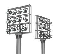 Set of spotlights on metal frames. - stock illustration