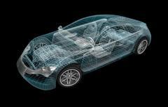 Car wireframe. My own design. Stock Illustration