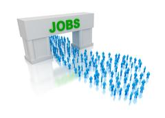 Jobs for everyone. - stock illustration